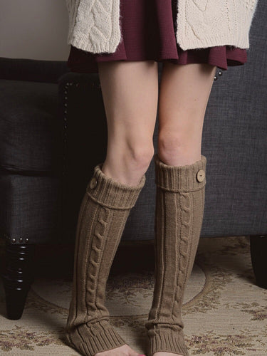 Classic Leg Warmer with Button - Boho Valley Boutique