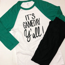 Load image into Gallery viewer, It's Game Day Y'All Baseball Tee - Boho Valley Boutique