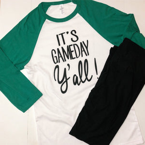 It's Game Day Y'All Baseball Tee - Boho Valley Boutique