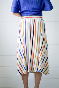 Indian Summer Striped Skirt - Boho Valley Boutique