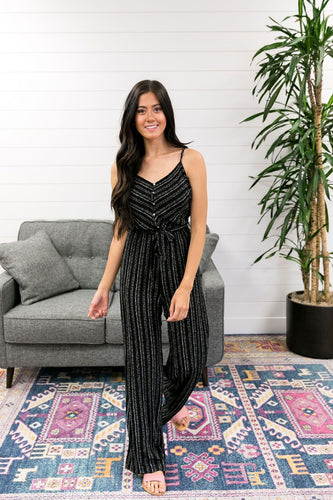 Julia Button-Down Jumpsuit In Black - Boho Valley Boutique
