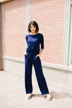 Load image into Gallery viewer, Jump For Joy Navy Jumpsuit