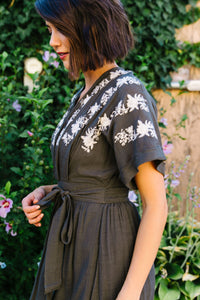 Kiss And Tell Embroidered Kimono Dress