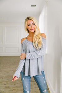 Lacey Cold Shoulder Top - Boho Valley Boutique