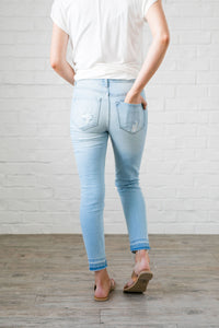 Light As Air Cropped Distressed Skinny Jeans - Boho Valley Boutique