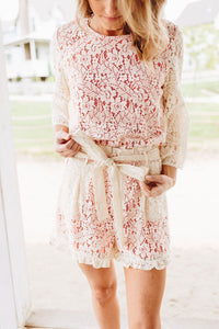 Lolita Lace Shorts In Cream - Boho Valley Boutique