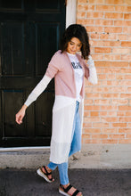 Load image into Gallery viewer, Long And Lean Color Block Cardigan - Boho Valley Boutique