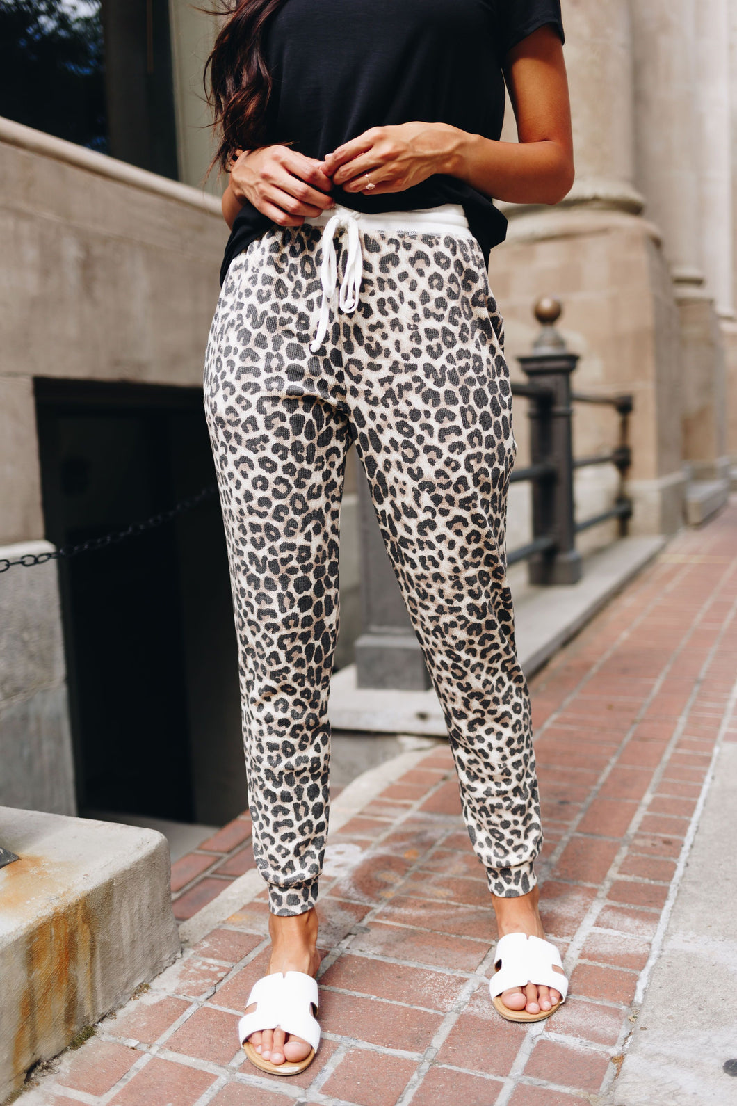 Lounging Leopard Joggers - Boho Valley Boutique