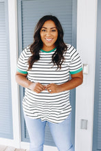 Load image into Gallery viewer, Lucky Stripe Ringer Tee - Boho Valley Boutique