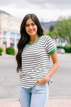 Load image into Gallery viewer, Lucky Stripe Ringer Tee