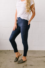 Load image into Gallery viewer, Marvelous Moto Jeggings In Navy - Boho Valley Boutique