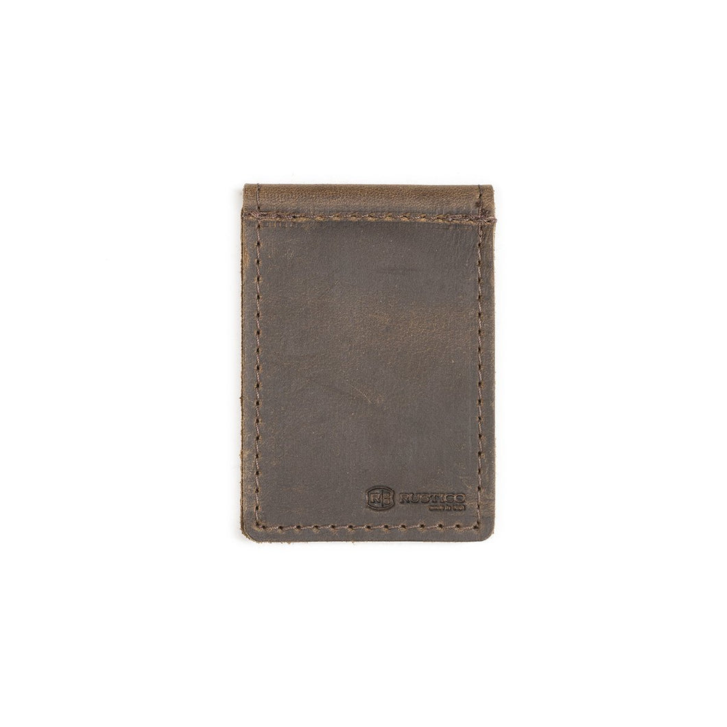 Money Clip Dark Brown Leather Wallet - Boho Valley Boutique