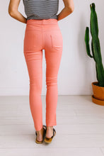 Load image into Gallery viewer, Moto Jeggings In Coral