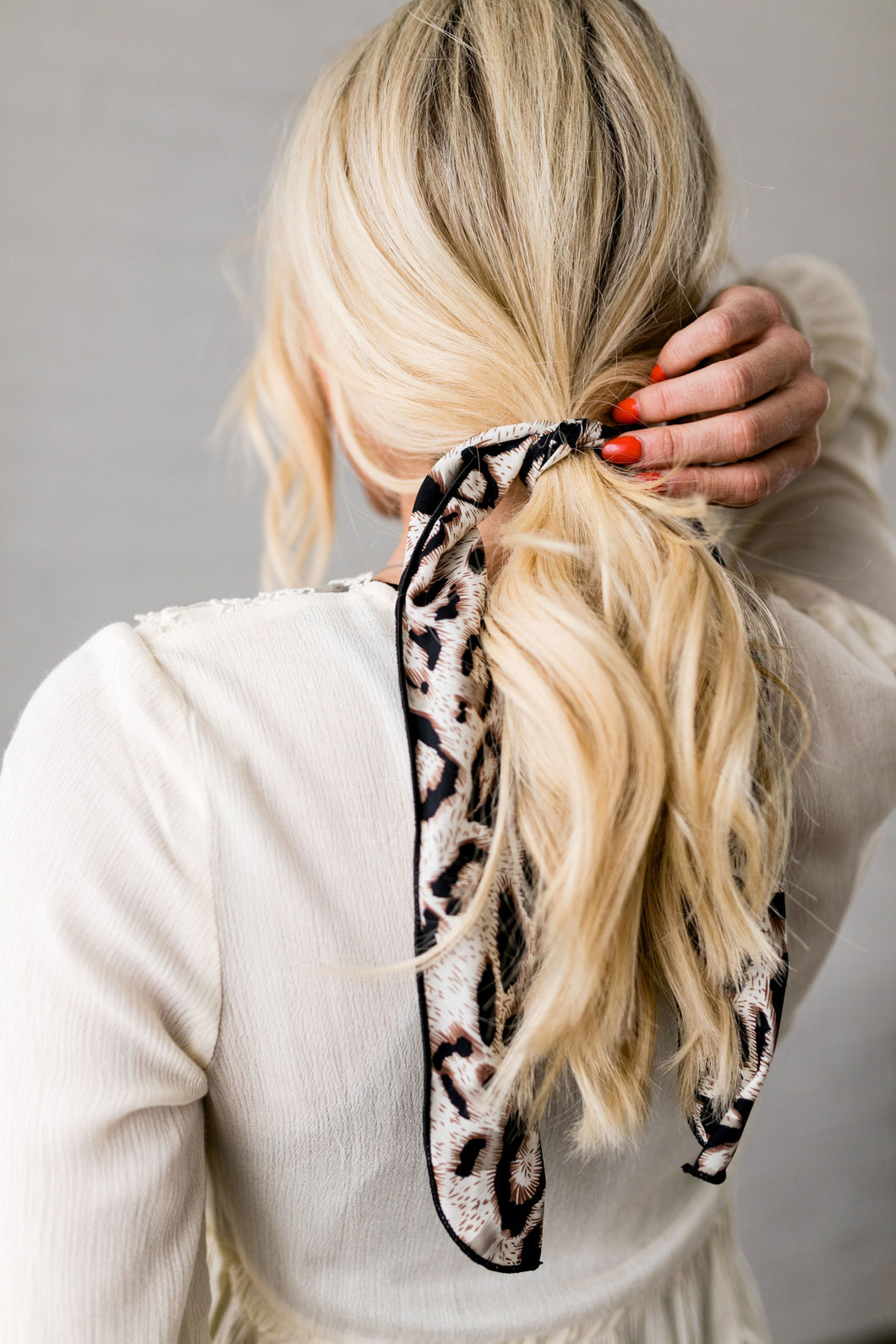 Natural Look Leopard Hair Tie In Brown - Boho Valley Boutique