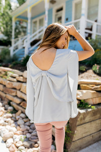 No Time Like The Present Top In Gray - Boho Valley Boutique