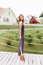 Load image into Gallery viewer, On Fire Twisted Back Maxi Dress In Gray