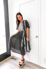 Load image into Gallery viewer, Patterns At Play Black + White Dress