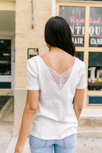 Load image into Gallery viewer, Peekaboo Lace Tee In White