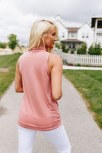 Load image into Gallery viewer, Pleats A Plenty Sleeveless Top In Dusty Rose