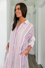 Load image into Gallery viewer, Risky Business Striped Dress - Boho Valley Boutique