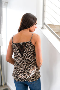 Ruffles And Lace Leopard Cami - Boho Valley Boutique