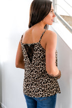 Load image into Gallery viewer, Ruffles And Lace Leopard Cami - Boho Valley Boutique