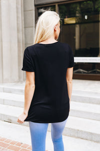 Rule The Roost Tee In Black - Boho Valley Boutique