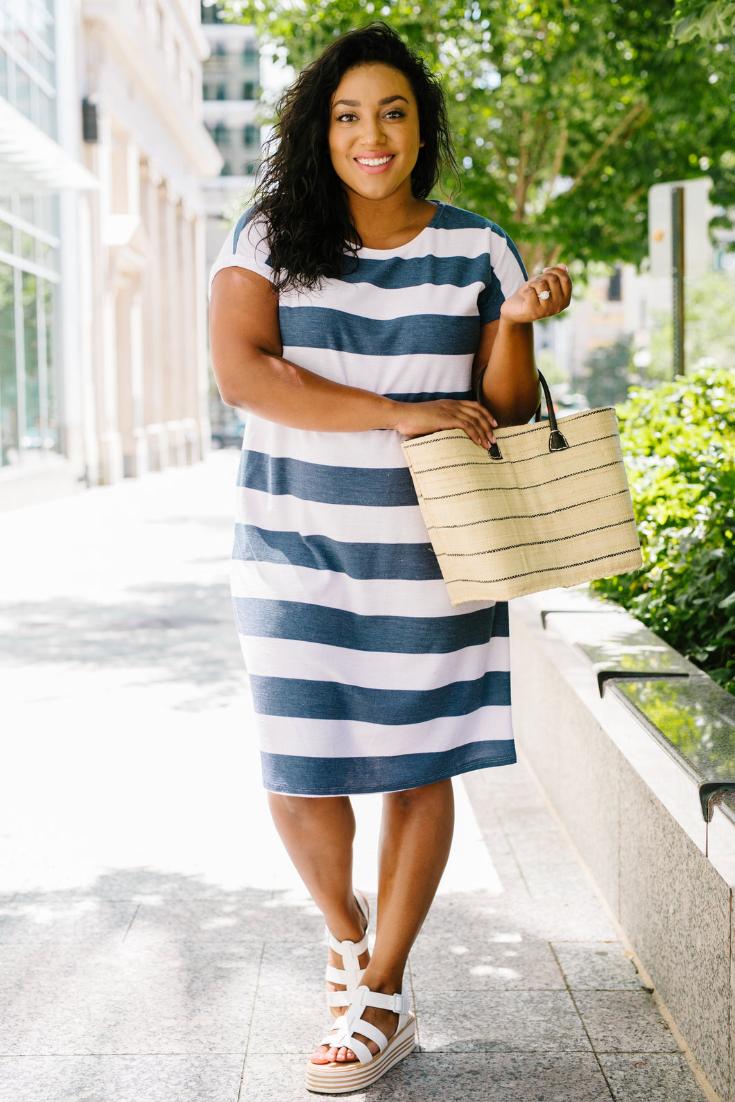 Sailing Through Summer Striped Dress - Boho Valley Boutique