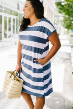 Load image into Gallery viewer, Sailing Through Summer Striped Dress - Boho Valley Boutique