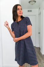 Load image into Gallery viewer, Santa Clara Striped T-Shirt Dress