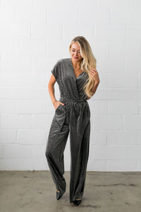 See And Be Seen Velvet Jumpsuit - ALL SALES FINAL - Boho Valley Boutique