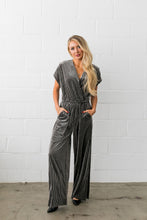 Load image into Gallery viewer, See And Be Seen Velvet Jumpsuit - ALL SALES FINAL - Boho Valley Boutique