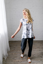 Load image into Gallery viewer, Shadowbox Floral Athleisure Top
