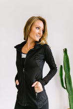 Load image into Gallery viewer, Sheer Willpower Black Jacket