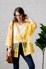 Load image into Gallery viewer, Sweet As Honey Lace Kimono