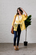 Load image into Gallery viewer, Sweet As Honey Lace Kimono - Boho Valley Boutique