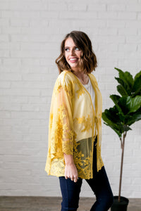 Sweet As Honey Lace Kimono