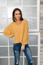 Load image into Gallery viewer, Sweet Sadie V-Neck Sweater In Wheat - ALL SALES FINAL