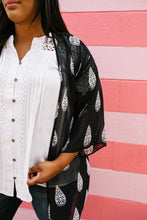 Load image into Gallery viewer, Tear Drop Chiffon Kimono