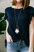 Load image into Gallery viewer, Triple Tassel Pendant Necklace