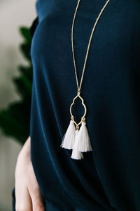 Triple Tassel Pendant Necklace