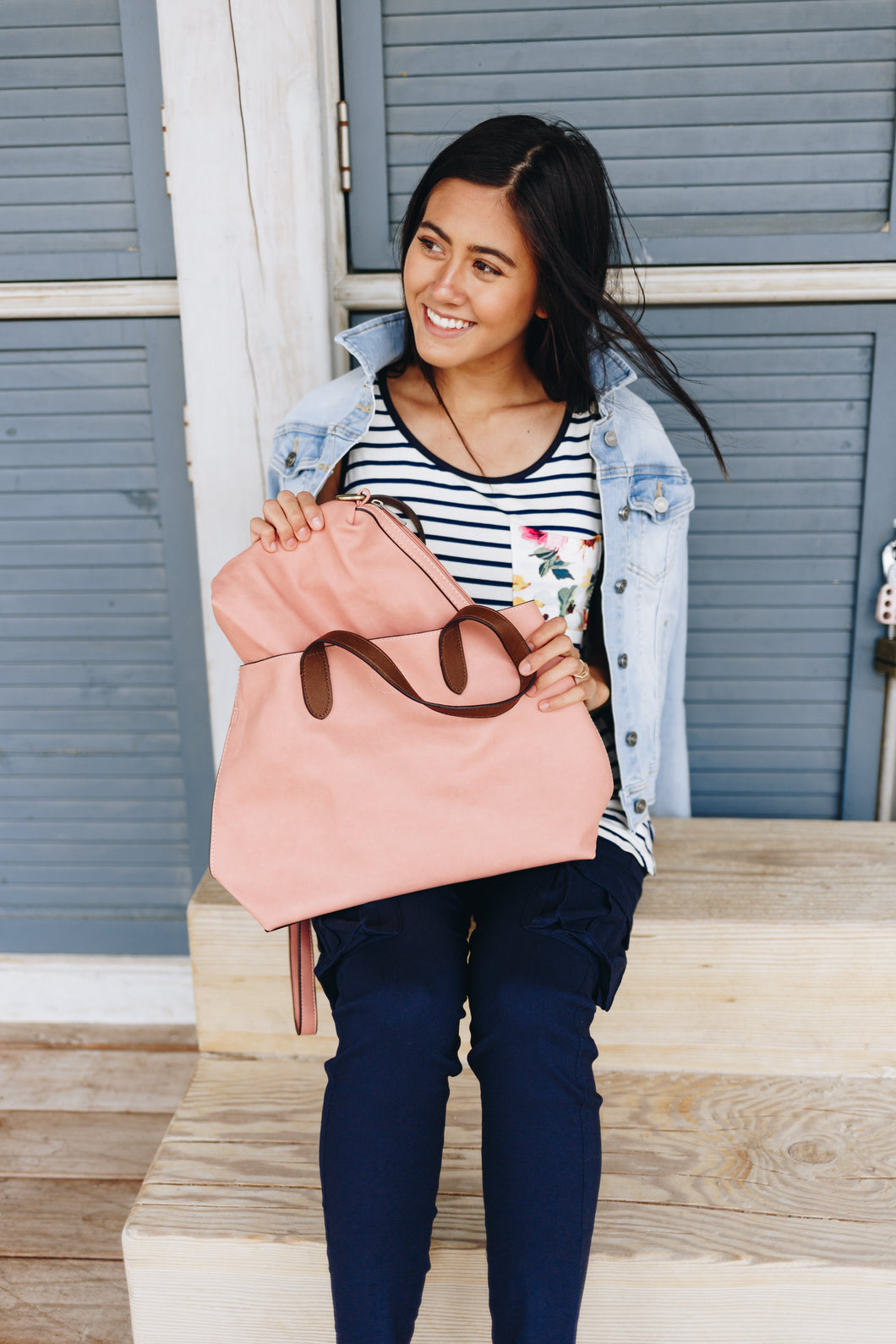 Two-In-One Tote In Pink Lemonade