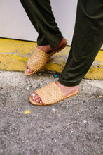 Load image into Gallery viewer, Wanderlust Woven Slides - Boho Valley Boutique