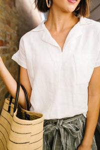 Working For The Weekend Top In Ivory - Boho Valley Boutique