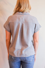 Load image into Gallery viewer, Working For The Weekend Top In Gray - Boho Valley Boutique