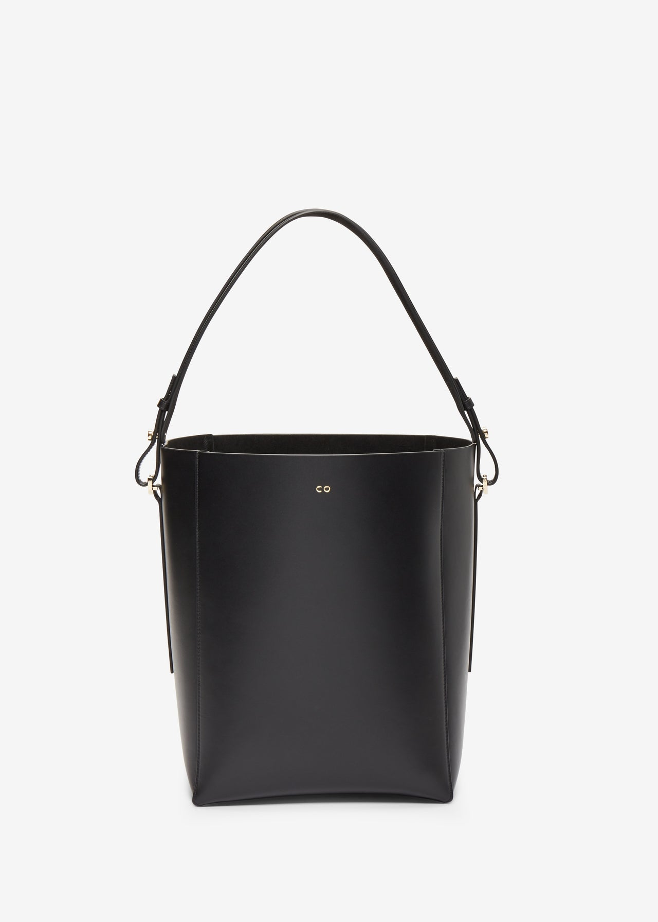 Bucket Bag in Smooth Leather - Black