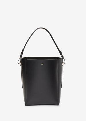 Bucket Bag in Smooth Leather - Black - Co Collections