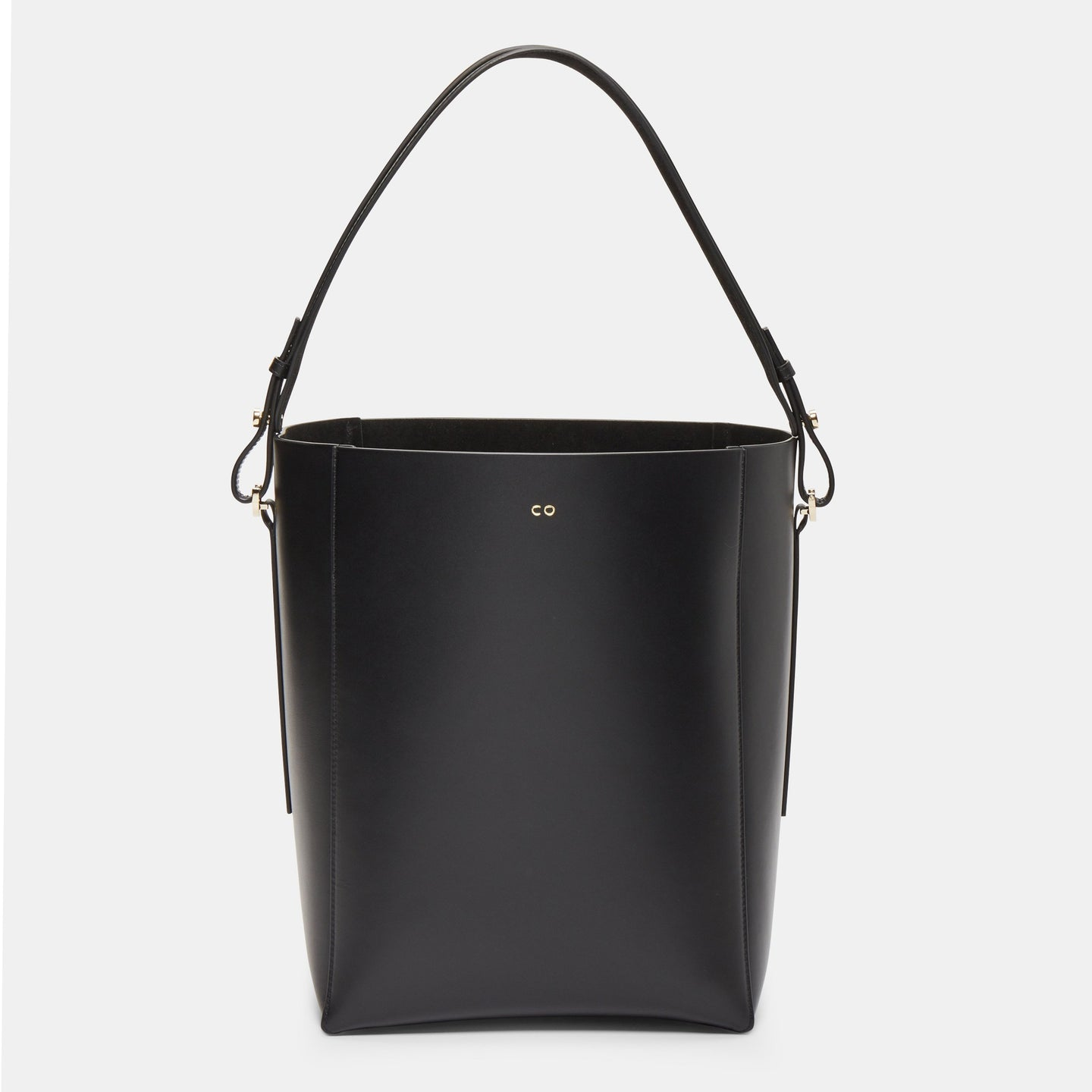 CO - Bucket bag in smooth Leather - Black