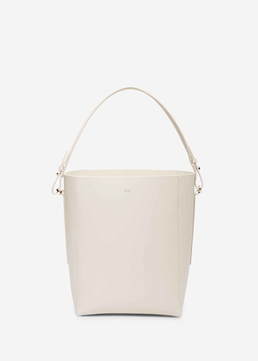Bucket Bag in Smooth Leather - Ivory - CO Collections