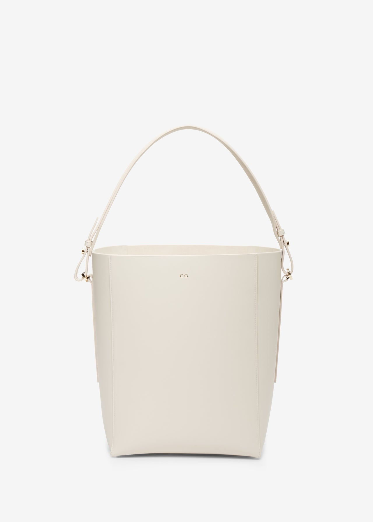 Bucket Bag in Smooth Leather - Ivory